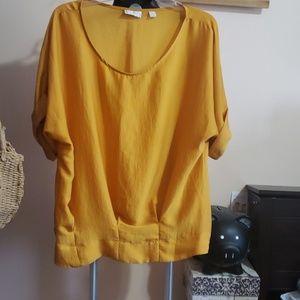New York & Co yellow blouse